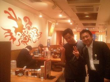 怖そうですが、超やさしい店長です。西新宿一番!この龍を探せ!!
